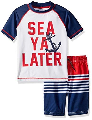 Little Boys Set - Carter's Little Boys' Rashguard Set, Navy See Ya Later, 7
