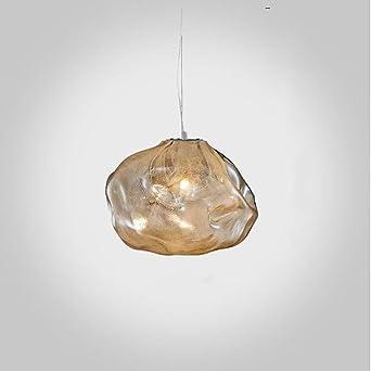 Lámparas de cristal posmodernas, Nordic Cian-color/Ámbar/Humo gris ...