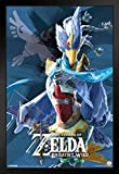 Pyramid America Legend of Zelda Breath of The Wild Vah Medoh Video Gaming Framed Poster 14x20 inch