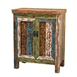Product review for Leo Solid Wood 2-door Cabinet in Antique Weathered Multi-color Style