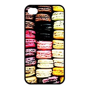 Customized Unique Dessert Cookie Macaron Rubber Back Protector Cover Case for iphone 5c TPU