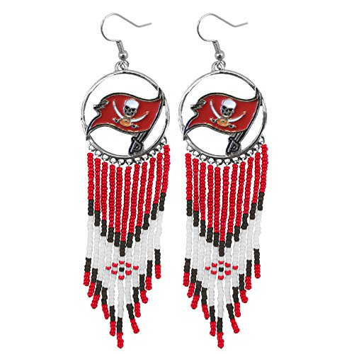 NFL Tampa Bay Buccaneers Dreamcatcher Earring - Tampa Bay Buccaneers Dangle Earrings