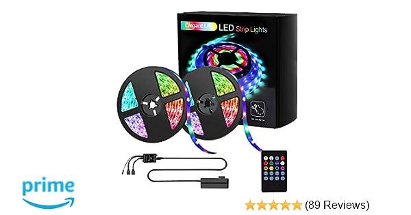 Light Strip 32.8ft RGB SMD 3528 LED Rope Lights Elegant Life LED Strip Lights