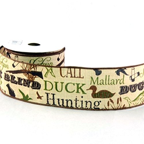 Tan Canvas Duck Hunting Ribbon 2.5