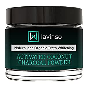 Natural Charcoal Teeth Whitening Powder - Made In USA - With Organic Coconut Activated Charcoal - Tooth Whitener - Effective than Charcoal Toothpaste Kit & Gel