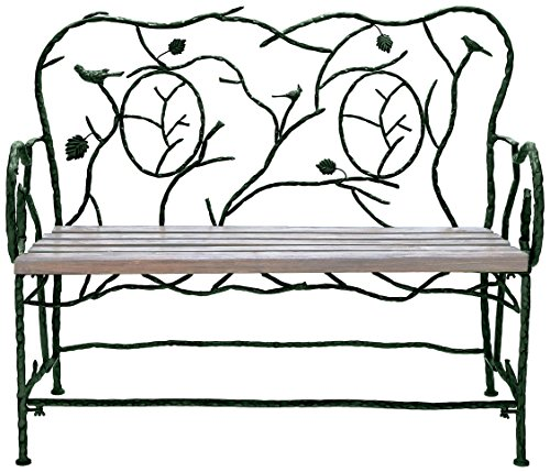 Deco 79 Metal Wood Bench, 46-Inch by 37-Inch