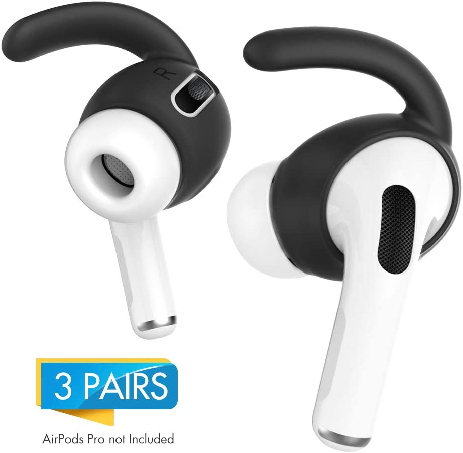 AHASTYLE AirPods Pro Ear Hooks 3 Pairs Anti Slip Ear Covers Silicone Accessories【Not Fit in the Charging Case】Compatible with Apple AirPods Pro 2019