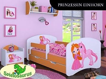 Kinderbett prinzessin einhorn inkl schubladen und matratze