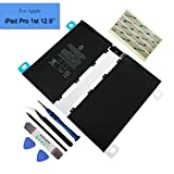 for Apple iPad Pro 12.9'' 1st Replacement Battery 10307mAh 38.8Whr 3.77V A1577 with Premium Tools + Adhesives