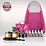 Maximist Allure Xena Complete Spray Tanning Kit with Pink Pop-up Tent Booth & Free Suntana Premium Sunless Solutions