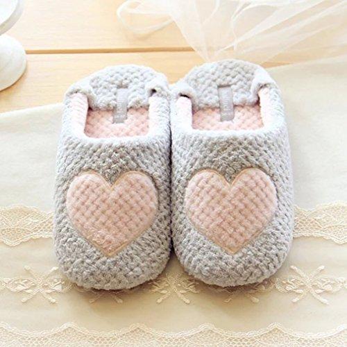 Pantofole Da Camera Da Letto Carino Donna Blubi Comode Pantofole Calde Grigio