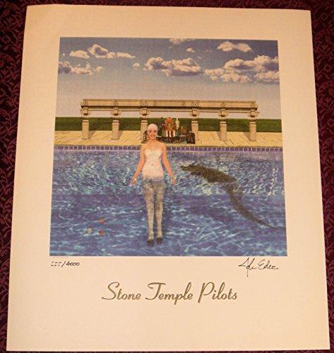 Rare Lithograph Art (STONE TEMPLE PILOTS STP Tiny Music Litho SIGNED LP ALBUM COVER ART LITHOGRAPH)