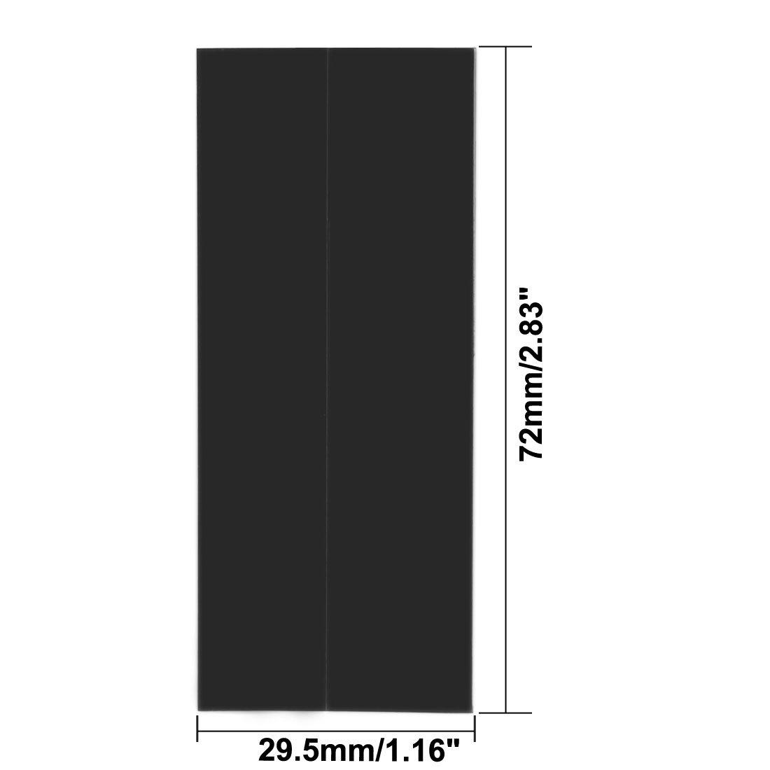 PVC Schrumpfschlauch Rohr 29,5mm f/ür 1 x 18650 Schrumpffolie 72mm schwarz DE sourcing map 20Stk