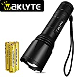 Tools & Hardware : 1000 Lumens Tactical Flashlight, Waklyte S04D CREE XML-T6 LED Flashlight, High Lumen, Super Bright, Military Grade Handheld Tac Light for Hiking, Camping, Travel, Emergency and EDC (Battery Included)