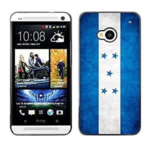 Shell-Star ( National Flag Series-Honduras ) Snap On Hard Protective Case For HTC One (M7)
