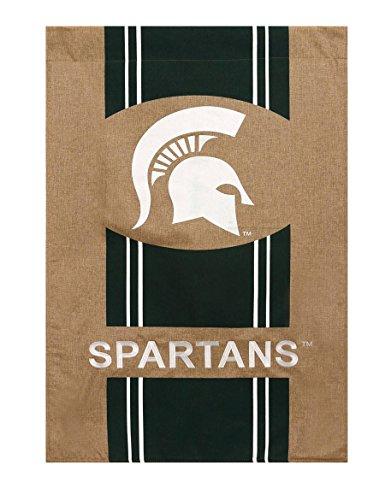 Evergreen NCAA Burlap House Flag (Michigan State Spartans)