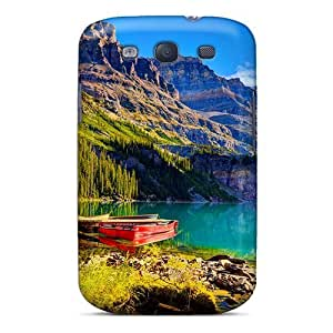 Fashion pc Case For Galaxy S3- A Boat On The Lakeshore Defender Case Cover