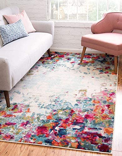 Unique Loom Chromatic Collection Modern Abstract Colorful Multi Area Rug 8' 0 x 10' 0