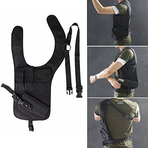 Santu Deluxe Outdoor Tactical Hiking Hidden Underarm Shoulder Holster Single Shoulder Bag with Additional Pouch for Hunting,Hiking and More Outdoor Activities