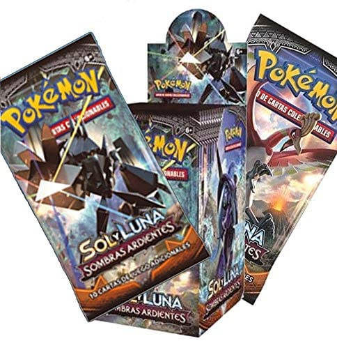 Pokemon JCC- Caja de 18 Sobres de: Sol y Luna: Sombras Ardientes sobre - Español (The Pokémon Company POSMBS02D): Amazon.es: Juguetes y juegos