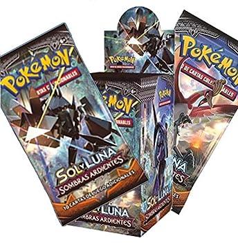 Pokemon JCC Caja de 18 Sobres de: Sol y Luna: Sombras Ardientes sobre - Español The Pokémon Company POSMBS02D