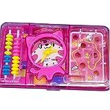 Wanrane Baby Development Toys Labyrinth Tool Box Cat Counter Children's Educational School Supplies(Pink)