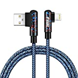 FAIR Lightning USB Charge Cable/iPhone Gaming Charger Cable for phone games,3Pack (3ft+6ft+10ft) Nylon Braided Cord with Lightning Connector for iPhone X/8/8 Plus/7/7 Plus/6/6 Plus/5S (Blue)