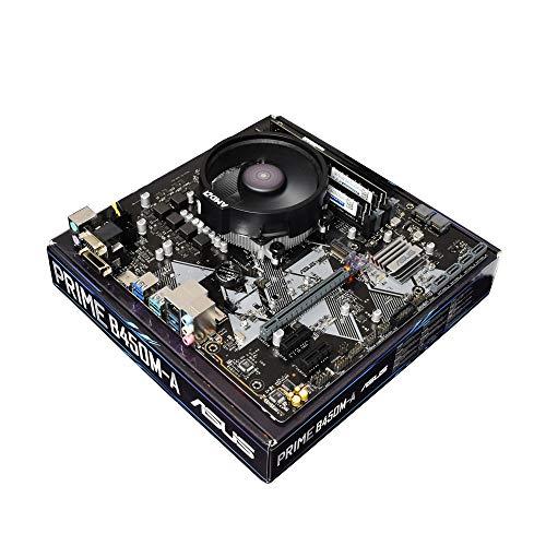 ADMI CPU Motherboard Bundle: AMD Ryzen 5 3400G 4.2GHz with Radeon Vega 11 Graphics, ASUS Prime B450M-A Motherboard, No RAM