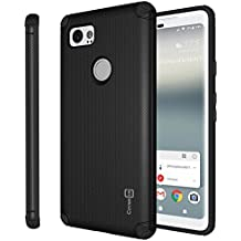 Google Pixel 2 XL Magnetic Case, CoverON Bios Series Minimalist Slim Fit Hard Protective Cover with Embedded Magnet Plate for Car Mounts for Pixel 2 XL/2XL - Black