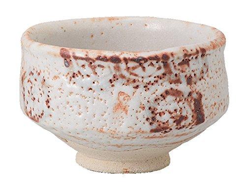 Mino Yaki Pottery Shino Kikko 5.3inch Matcha Bowl