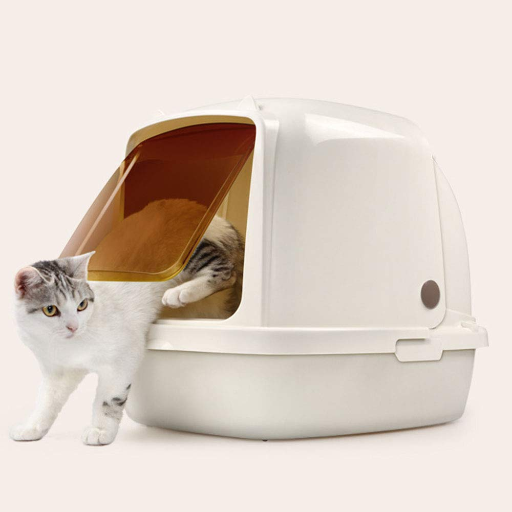 Fully Enclosed Cat Toilet Cat Litter Box to Prevent Splashing Cats from Cleaning Materials Ideal for Larger Cat Breeds Or Multi Cat Households 51x38x42 cm