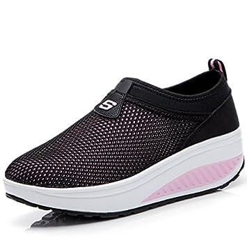 Freizeitschuhe Damen Schuhe TOP Sneakers Turnschuhe 3536 Schwarz Rosa 36