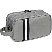 Large Toiletry Bag,VASCHY Waterproof Travel Kit Case for Makeup, Cosmetic, Shaving with Separate Compartments Gray