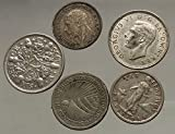 Group Lot Collection of 5 World AR Coins 1928 1935 1944 1932 1945 i53814