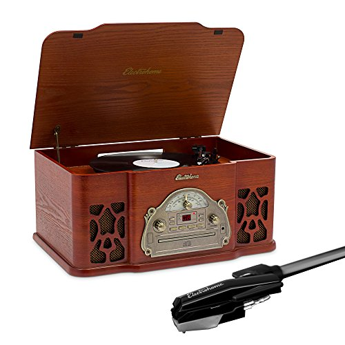 Electrohome Vinyl Record Player Classic Turntable Wood Stere