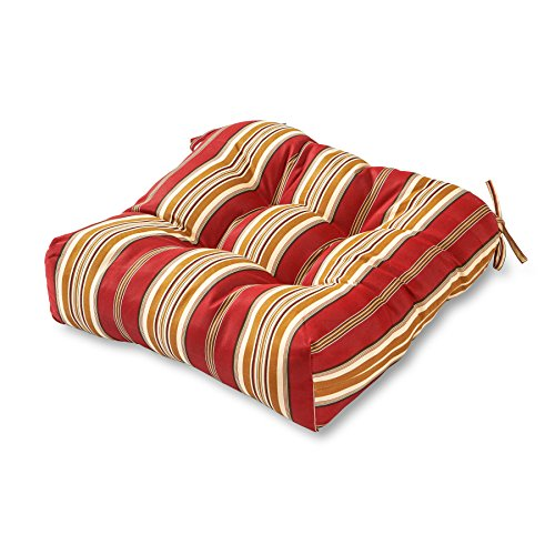 Greendale Home Fashions 20-Inch Indoor/Outdoor Chair Cushion, Roma Stripe ()