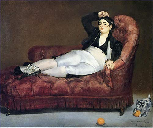 $50-$2000 Hand Painted Art Paintings by College Teachers - Young Woman Reclining in Spanish Costume Eduard Manet Famous Oil Painting on Canvas for Wall Art Decor -Size 04 ()