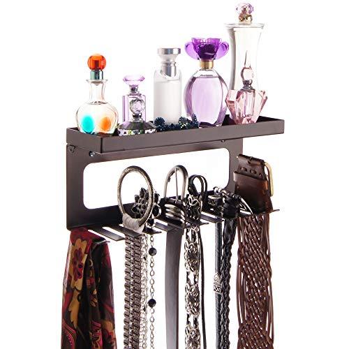 - Angelynn's Belt Holder Organizer Hooks Wall Mount Hanging Closet Storage Rack Floating Shelf, Arinn Rubbed Bronze