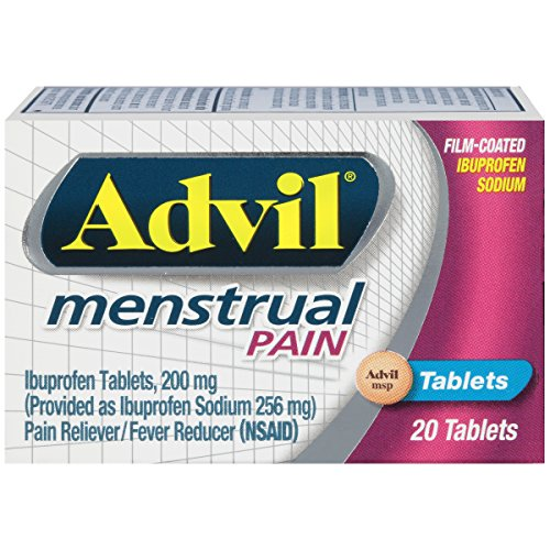 Advil Menstrual (20 Count) Pain Reliever / Fever Reducer Tablet, 200mg Ibuprofen Sodium, Menstrual Cramps, Temporary Pain Relief