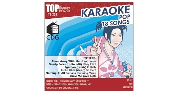 Various Artists, Karaoke - Top Tunes Karaoke CDG Pop Vol  38