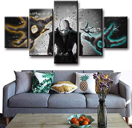 FEISENWLH 5 Pieces of Game Posters and Prints Canvas Art Undertale Figure Painting Modern Decorative Canvas Artist Residence Decorative Art-FramelessS