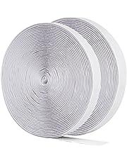 GWHOLE 2 Roll Hook and Loop Self Adhesive Tape Roll Fastening Tape, 32ft, Black