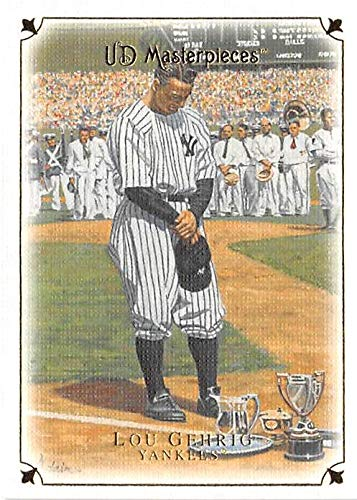 Lou Gehrig Memorabilia - Lou Gehrig baseball card Farewell Speech (New York Yankees Hall of Fame) 2008 Upper Deck Masterpieces #8