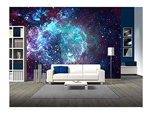 wall26 - Star Field in Space a Nebulae and a Gas Congestion - Removable Wall Mural   Self-Adhesive Large Wallpaper - 66x96 inches by wall26 (Image #2)