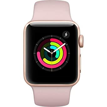 Apple Watch Series 3 38mm Smartwatch (Gps Only, Gold Aluminum Case, Pink Sand Sport Band) (Certified Refurbished) by Apple