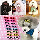 PET SHOW Heart Round Mixed Styles Sunglasses Girls Pet Cat Dog Barrette Hair Clips Small Dogs Grooming Hair Accessories With Frog Clips Pack of 20