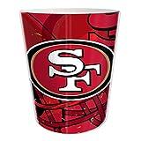"""San Francisco 49ers NFL 10"""" Bath Waste Basket (Scatter Series)"""