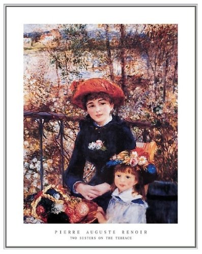 Renoir Two Sisters on the Terrace Framed Print