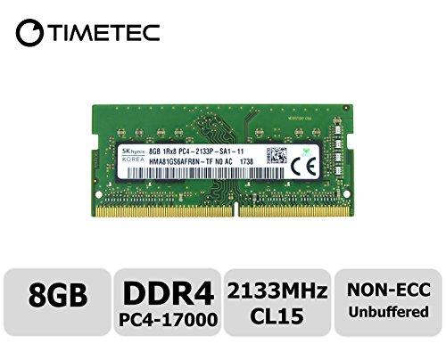 Timetec Hynix IC DDR4 2133MHz PC4-17000 Non ECC Unbuffered 1.2V CL15 2Rx8 Dual Rank 260 Pin SODIMM Laptop Notebook Computer Memory Ram Module Upgrade (Single Rank 8GB) (Series 3 Pst)