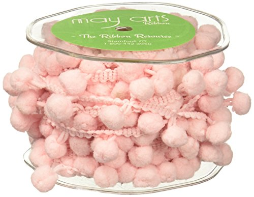 May Arts Jumbo Pom Pom, 1/2-Inch by 10-Yard, Pink by May Arts